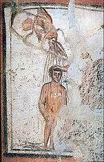 Βάπτιση, απεικόνιση πρωτοχριστιανικής τέχνης (φωτο Βικιπαιδεία)