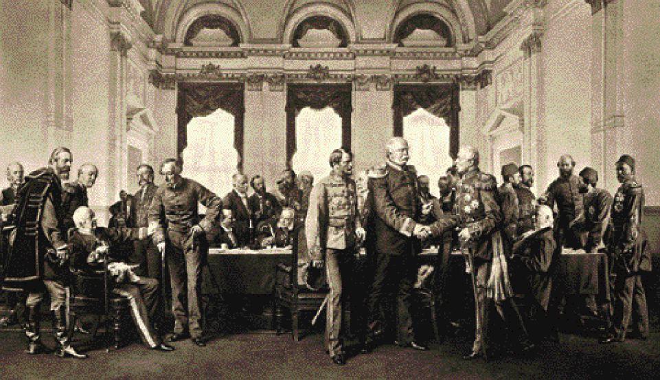 H αναθεώρηση της Συνθήκης του Αγίου Στεφάνου ανατέθηκε στο διεθνές Συνέδριο του Βερολίνου, το οποίο κατέληξε να μηδενίσει σχεδόν τα κέρδη της Ρωσίας επί της Οθωμανικής Αυτοκρατορίας (φωτο tovima.gr)