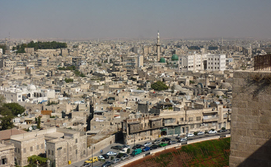 Χαλέπι από το κάστρο, φωτογραφία 2009, Βικιπαιδεία