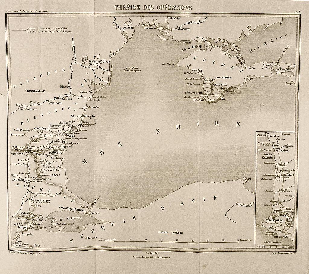Χάρτης της Μαύρης Θάλασσας το 1865