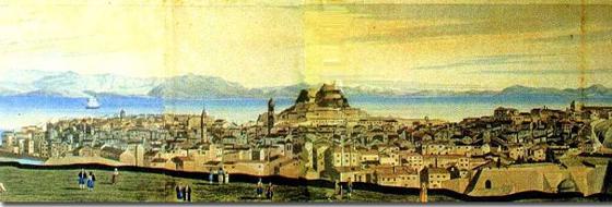 Άποψη της Κέρκυρας την εποχή της Ενετοκρατίας