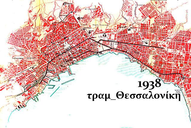 Χάρτης γραμμών του τραμ