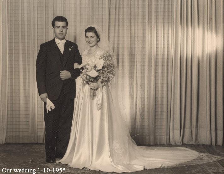 Η ημέρα του γάμου μας στις 1η Οκτωβρίου  1955 στον Ευαγγελισμό της Μελβούρνης
