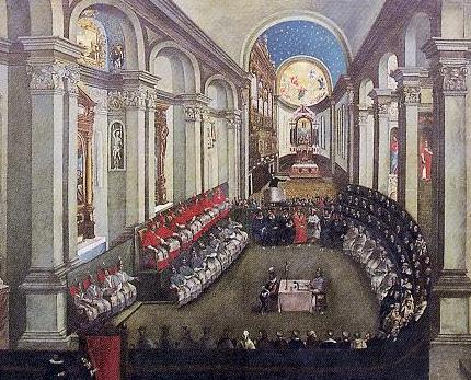 """""""Council of Trent"""" από άγνωστο - Staatliches Hochbauamt Donauwörth, Museo Diocesano Tridentino, Heiligenlexikon; transfered from de Wikipedia. Υπό την άδεια Κοινό Κτήμα μέσω Wikimedia Commons - https://commons.wikimedia.org/wiki/File:Council_of_Trent.JPG#/media/File:Council_of_Trent.JPG"""
